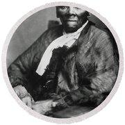 Harriet Tubman  Round Beach Towel