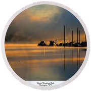 Harris Riverfront Park Round Beach Towel