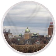 Harrisburg City Round Beach Towel