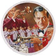 Harry James Trumpet Giant Round Beach Towel