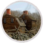 Hartwell Tavern 3 Round Beach Towel