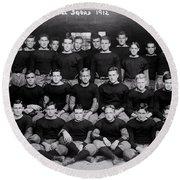 Harvard Football 1912 Round Beach Towel