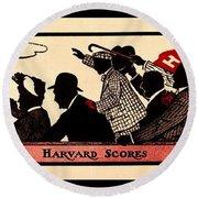 Harvard Scores 1905 Round Beach Towel
