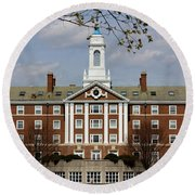 Harvard University Moors Hall Round Beach Towel