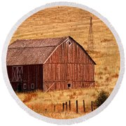 Harvest Barn Round Beach Towel
