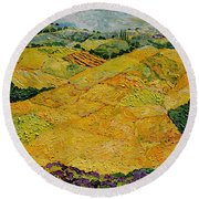 Harvest Joy Round Beach Towel