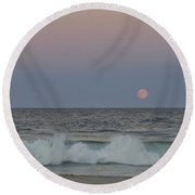 Harvest Moon Seaside Park New Jersey 2013 Round Beach Towel