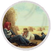 Harvest Time Round Beach Towel by Julien Dupre