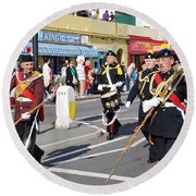 Hastings Old Town Carnival Round Beach Towel