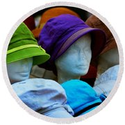 Hats For Sale Round Beach Towel