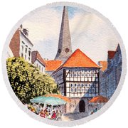 Hattingen Germany Round Beach Towel
