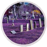Haunted Cemetery Round Beach Towel