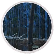 Haunted Forest Round Beach Towel