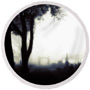Haunting On All Hallow's Eve Round Beach Towel