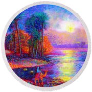 Haunting Star Round Beach Towel by Jane Small