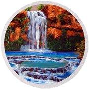 Havasu Falls Cheryln1955@gmail.com Round Beach Towel