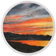 Havasu Sunset Round Beach Towel