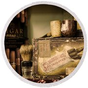 Have A Cigar Round Beach Towel by Heather Applegate