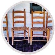 Have A Seat. Round Beach Towel