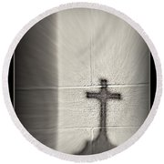 Have Faith Round Beach Towel