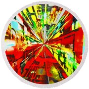 Have You Advertised In Hyperspace? Round Beach Towel