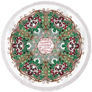 Have Yourself A Faery Little Christmas Round Beach Towel