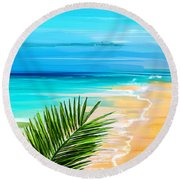 Haven Of Bliss Round Beach Towel