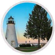 Concord Point Light ... Havre De Grace Md Round Beach Towel