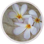 Hawaiian Tropical Plumeria Round Beach Towel