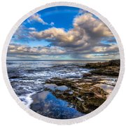 Hawaiian Morning Round Beach Towel