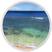 Hawaiian Ocean Round Beach Towel