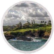 Hawaiian Shores Round Beach Towel