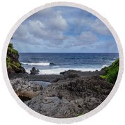 Hawaiian Surf Round Beach Towel