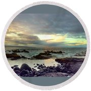 Hawaiian Landscape 13 Round Beach Towel