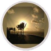 Hawaiian Landscape 8 Round Beach Towel