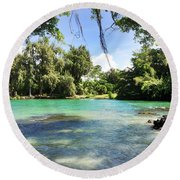 Hawaiian Landscape 4 Round Beach Towel