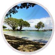 Hawaiian Landscape 1 Round Beach Towel