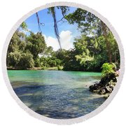 Hawaiian Landscape Round Beach Towel
