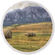 Hay There Round Beach Towel by Juli Scalzi