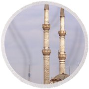 Haydarpasa Protokol Cami Mosque 01 Round Beach Towel