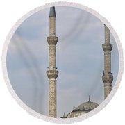 Haydarpasa Protokol Cami Mosque 02 Round Beach Towel