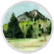 Haystack Mountain Castle Hill Me Round Beach Towel