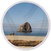 Haystack Rock 2 - Pacific City Oregon Coast Round Beach Towel