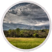 Hdr April 28 2014 Round Beach Towel