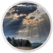 Hdr April 28 2014 Two Round Beach Towel