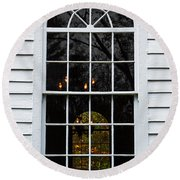 He Hears Our Prayers On Both Sides Of The Window Round Beach Towel