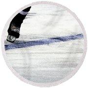 He Skates Round Beach Towel by Karol Livote