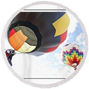 Headed For The Moon Round Beach Towel