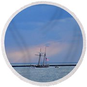 Heading Home Round Beach Towel