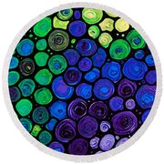 Healing Light - Mosaic Art By Sharon Cummings Round Beach Towel